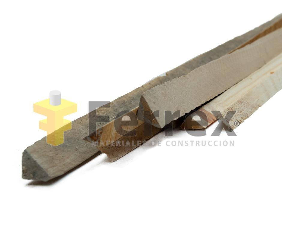 Chaflán de madera